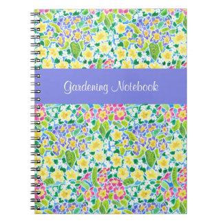 Spring Primroses Customisable Gardening Notebook