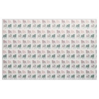 Spring Pugs - Silhouette Fabric