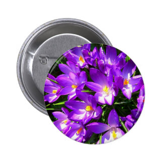 Spring Purple Crocus Flower Pin