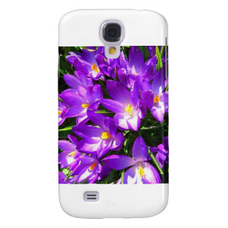 Spring Purple Crocus Flower Samsung Galaxy S4 Covers