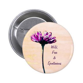 spring purple flower button