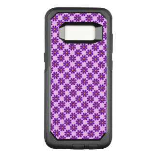 Spring purple flowers, light purple background OtterBox commuter samsung galaxy s8 case