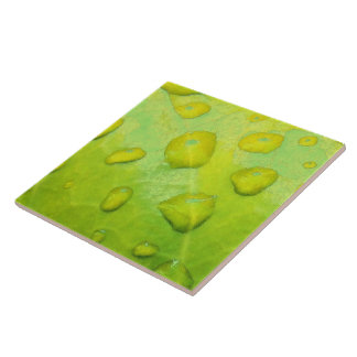 Spring Rain Abstract Large Square Tile
