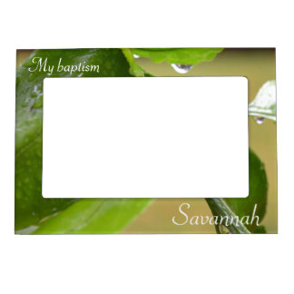Spring rain green magnetic picture frame