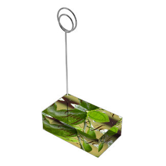 Spring rain green table card holder