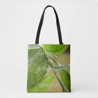 Spring rain green tote bag