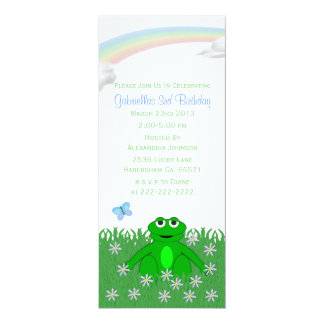Spring Rainbow: Frog Birthday Party Invitations