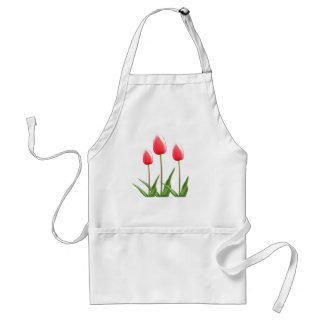 Spring red tulip flowers aprons