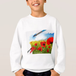 Spring-Red yellow flowers with painting tools n.jp Sweatshirt