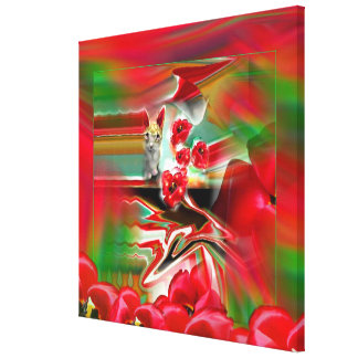 Spring Revival Abstract Easter Art Canvas Print