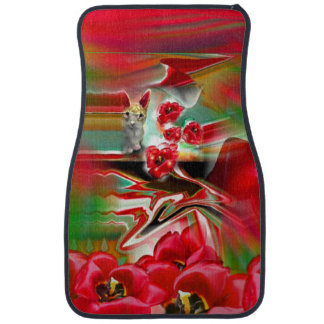 Spring Revival Abstract Easter Art Car Mat