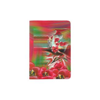 Spring Revival Abstract Easter Art Passport Holder