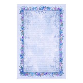 Spring Romance - Blue Customized Stationery