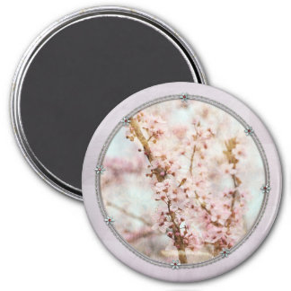 Spring Romance Cherry Blossoms 7.5 Cm Round Magnet