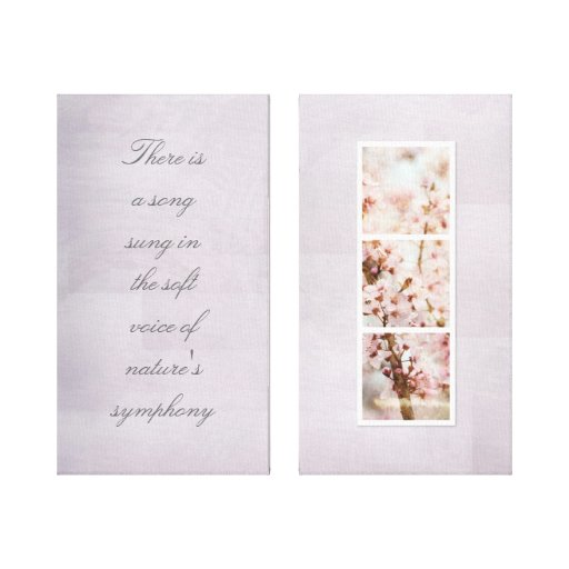 Spring Romance Cherry Blossoms Stretched Canvas Prints