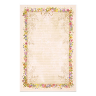 Spring Romance - Peach Personalized Stationery