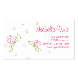 Spring Roses Calling Card Business Card Template