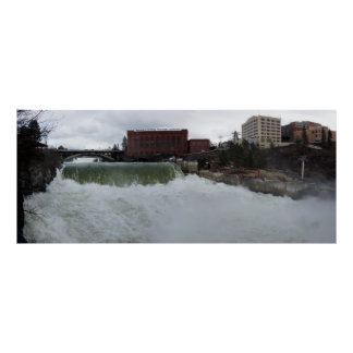SPRING RUNOFF SPOKANE FALLS POSTER