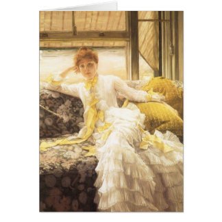 Spring (Seaside) by James Tissot, Vintage Portrait Card