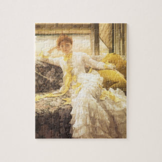Spring (Seaside) by James Tissot, Vintage Portrait Jigsaw Puzzle