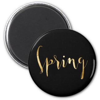 Spring Season Planner Black Gold Glam Script VIP Magnet