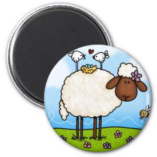 spring sheep magnet