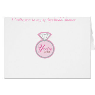 Spring shower greeting card