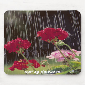 Spring showers mousepad