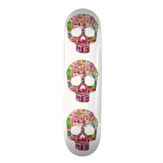 Spring skull 19.7 cm skateboard deck