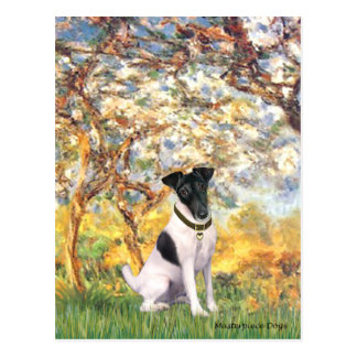 Spring - Smooth Fox Terrier Postcard