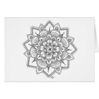 Spring Snowflake 2 Notecard