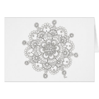 Spring Snowflake Mandala Notecard