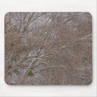 Spring Snowstorm Mouse Pads