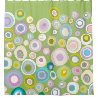 spring spot green shower curtain