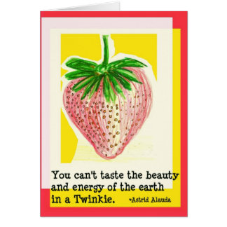 Spring Strawberry for Health greeting card