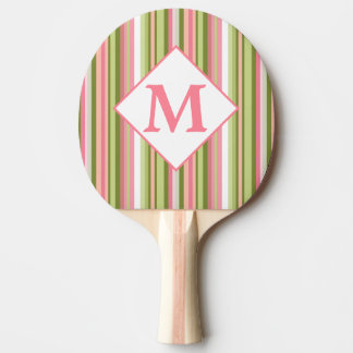 Spring Stripes monogrammed ping pong paddle
