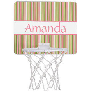 Spring Stripes Personalized Mini-Basketball Goal Mini Basketball Hoop