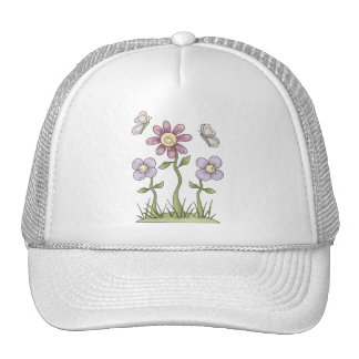 Spring Stuff · Purple Flowers & Butterflies Trucker Hats