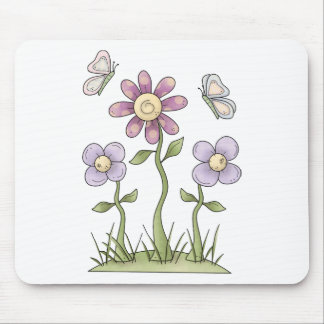Spring Stuff · Purple Flowers & Butterflies Mouse Pad