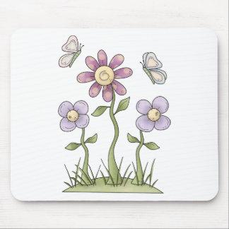 Spring Stuff · Purple Flowers & Butterflies Mouse Pad