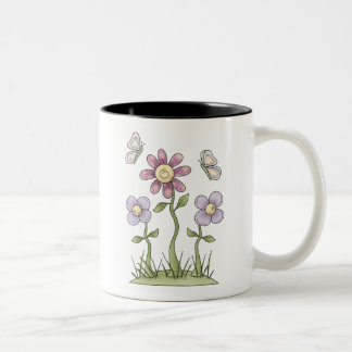 Spring Stuff · Purple Flowers & Butterflies Coffee Mug