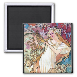 Spring Summer Fall Winter Square Magnet