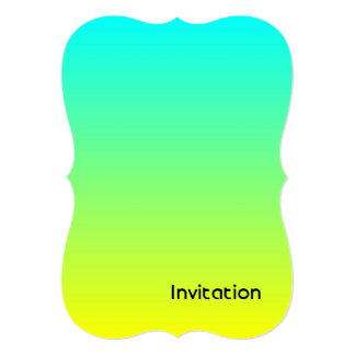 spring summer fashion yellow lime green ombre 13 cm x 18 cm invitation card
