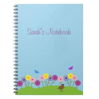 Spring summer flower custom notebook