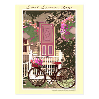 Spring / Summer Flowers & Bike Postcard