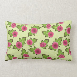 Spring & Summer Pretty Little Roses Lumbar Cushion