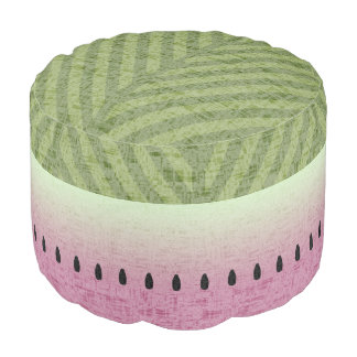Spring & Summer Quirky Watermelon Pouf