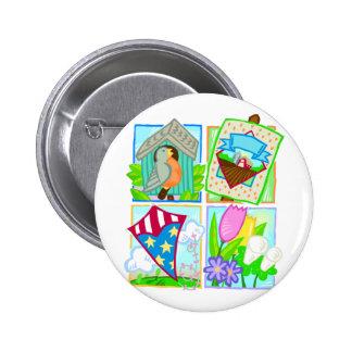 Spring/Summer Seasonal Design 6 Cm Round Badge