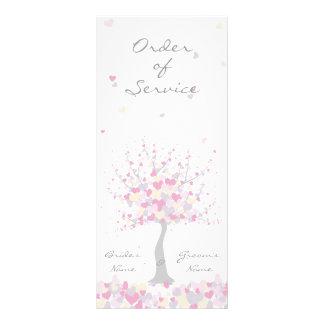 Spring/Summer Wedding - Order of Service Personalised Rack Card