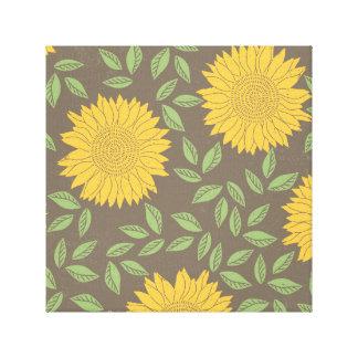 Spring Sunflower Pattern Canvas Print